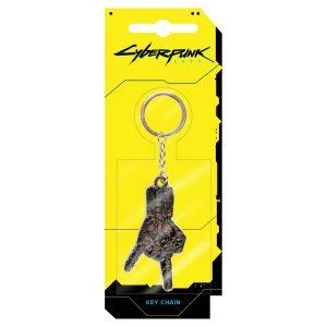 CYBERPUNK 2077 - Silverhand Metal Keychain Raktų Pakabukas - Spacebar.gg