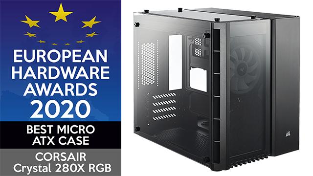 European Hardware Awards 2020 Best Micro ATX Case CORSAIR Crystal Series 280X RGB