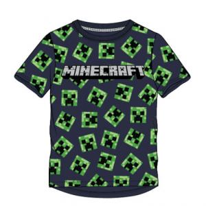 Minecraft - Marškinėliai Su Creeper'ių Galvomis - Spacebar.gg